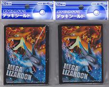 Pokemon Card Official Sleeve Mega Charizard 2 Packs (64) Japanese