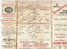 ENGLAND v SCOTLAND 1913 RUGBY PROG - ENGLAND'S FIRST EVER GRAND SLAM MATCH