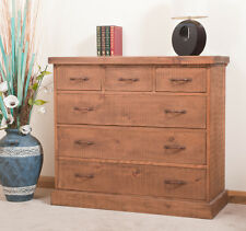SOLID  RUSTIC SAWN PLANK CHEST OF DRAWERS   Hand-waxed   Handmade to Order