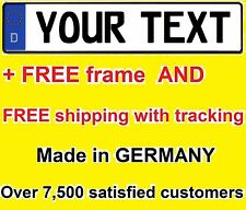 Custom GERMAN license plate Volvo Audi BMW Volkswagen Mercedes EURO vanity tag