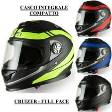 CRUIZER Casco Moto Integrale Scooter Omologato Compatto Visiera Trasparente