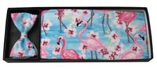 Flamingos and Flowers Cummerbund and Bow Tie