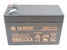 New BB SHR3.6-12 12V 3.6Ah High Rate SLA Battery F2 / T2 Terminals CPS3.6-12