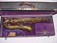 RARE BUFFET CRAMPON EVETTE / SCHAEFFER LOW PITCH SAXOPHONE FRANCE 1913 C MELODY