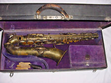 RARE BUFFET CRAMPON EVETTE AND SCHAEFFER LOW PITCH SAXOPHONE MADE IN FRANCE 1913
