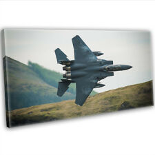 More details for f-15e strike eagle flight canvas print framed wall art photography picture