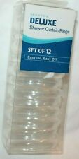 Maytex Deluxe Clear Plastic Shower Curtain Rings Set of 12