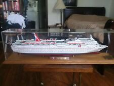 Carnival Fantasy Cruise Ship Model, REPLICA, WITH DISPLAY CASE