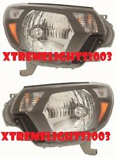 TOYOTA TACOMA 2012-2015 BLACK HEADLIGHTS HEAD LIGHTS FRONT LAMPS SET PAIR