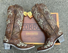 Corral A3638 Brown Boots Size 8.5 Women's Cowboy Western Studs Crystals