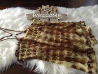DKNY Womens Cami Tank Top Blouse Size Medium Brown Multicolor Print