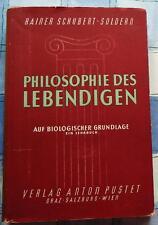Philosophie des Lebendigen auf Biologischer Grundlage Lehrbuch Biochemie 1951