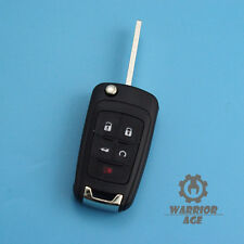 Flip Key Case Shell for Buick Regal Verano LaCrosse 5 Buttons Remote Housing Fob