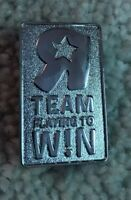 Toys R Us silver Pin R Team Playing to W!N Corporate Employee exclusive collect.