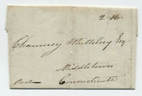 1782 Boston MA early confederation 2.16 rate cover to CT [45.31]