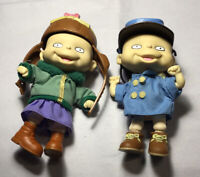 """Vtg Rugrats Phil & Lil Twin 1997 Kids 4"""" Mattel Action Figure Doll Nickelodeon"""