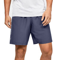 Under Armour UA Mens HeatGear Graphic Blue Woven Mens Sports Gym Shorts L