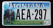 "MONTANA "" SUPPORTING CARROLL COLLEGE ATHLETICS MT Sport SPECIALTY License Plate"