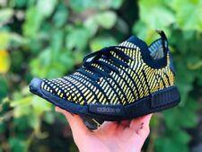 🐝BLACKED OUT Adidas NMD R1 STLT PK Yellow Primeknit AQ0934