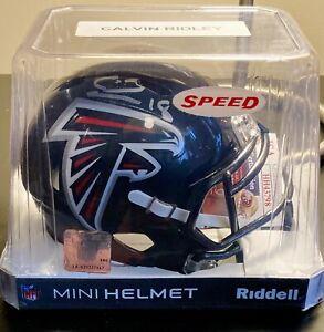 Calvin Ridley Signed Mini Atlanta Falcons Speed Helmet Silver Auto - JSA COA