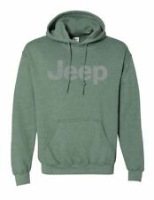 New Men's Distressed Jeep Logo Hoodie Men's X-Large Sweatshirt Hoodie X-Large