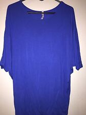 Super Line Women's Blue Tunic Top- Size Medium