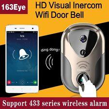 Wireless WiFi DoorBell Video Camera Smart Door Phone Visual Intercom Monitor IR