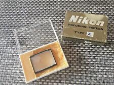 Nikon Focusing Screen Type A for Nikon F F2 Photomic FTN Full Matte Fresnel EX!