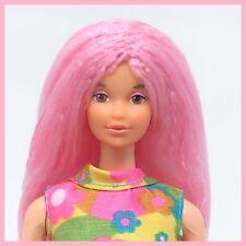 Vintage Mod Kelly Barbie Tnt - Bubblegum Pink Reroot Repaint OOAK Doll