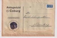 NACH 45 / Gebührenfrei / Postsache u.a. Coburg, 24.1.49,apt.DienstU Amtgsgericht