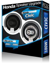 Honda Civic porte avant haut-parleurs voiture Fli Haut-parleurs + Haut-parleur Adaptateurs 180 W