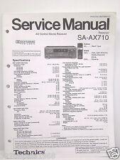 Technics Original Service Manual SA-AX710 Receiver