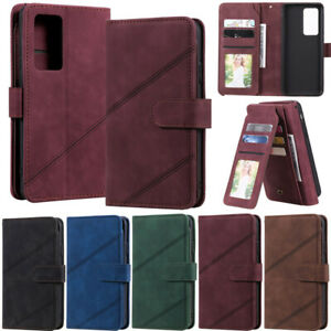Case For Samsung S21 Plus S20 S10 S9 S8 Note 20 Wallet Card Holder Leather Cover