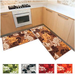 Carpet Kitchen Rimmed Non-Slip Set 2 Pieces Various Sizes Modern Durable
