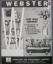 Vintage Webster Air Equipment Spray Paint Equipment Dealer Sales Catalog W68-C