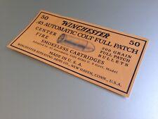 STICKER 1905 Winchester Ammo Box for 50 ammunition Colt 1911 Auto Colt Pistol 45