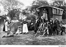 1897 Gipsy Gypsy Camp Essex Caravan Romany Travellers 7x5 Inch Reprint Photo H
