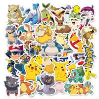 50pc No repeat Pokémon Stickers POKEMON GO Pikachu Luggage Decal Ornament Mark