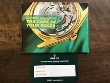 Rolex Garanzia Service In Bianco + Libretto -Submariner- Explorer-GMT-Daytona