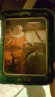 VINTAGE Santa Claus Enjoy Coca Cola Tray --Good Boys and Girls