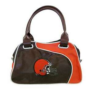 Cleveland Browns Women Per-fect Bowler Hand Bag  NFL Authentic by Little Earth