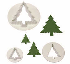 PME 3 CHRISTMAS TREE Plastic Icing Cut Out Cutters Sugarcraft Cake Decorating