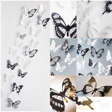 3D Schmetterlinge Wandtattoo 18 Sticker Aufkleber Glitzer Wandaufkleber Neu