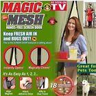 Hand-Free Magic Mesh Screen Net Door magnets Anti Mosquito Bug Curtain New DP