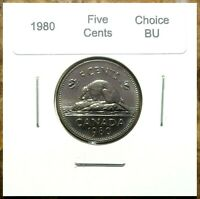 Canada 1980 Five Cents UNC Choice BU!!