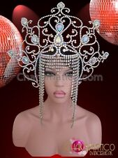 CHARISMATICO Late century inspired headdress in white and blue color combination
