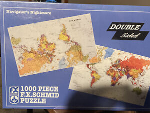 FX SCHMID 1000 Piece Puzzle Double Sided Navigator's Nightmare No. 90500 SEALED