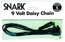 SNARK SA2 9 VOLT DAISY CHAIN CABLE 5 GUITAR PEDAL POWER CORD 9V