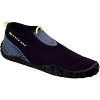 Women Water shoes Beachwalker Aqua Lung Black Grey Rubber Sole 2 mm Neoprene