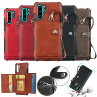 For Samsung Galaxy Note 10 Plus A70 Leather Wallet Card Slot Bag Back Case Cover